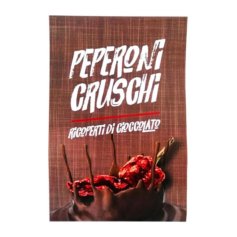 cioccolato fondente e peperoni cruschi
