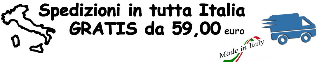 spedizioni gratuite per ordini sopra i 59 euro